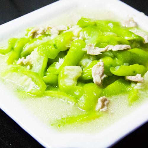 简单美味的丝瓜炒肉