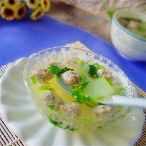 夏日冬瓜丸子湯的做法