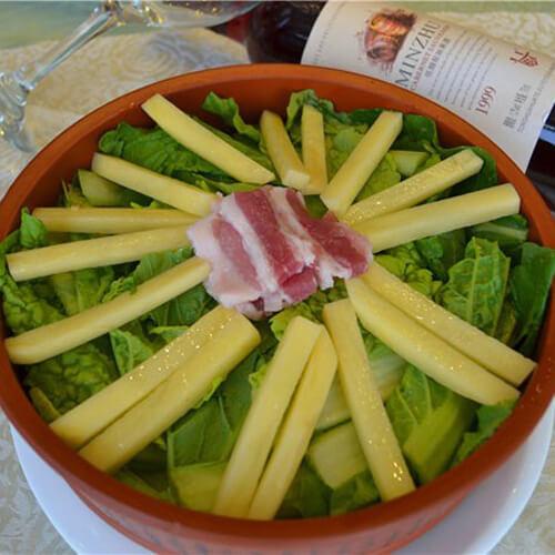 好吃的白菜土豆炖粉条