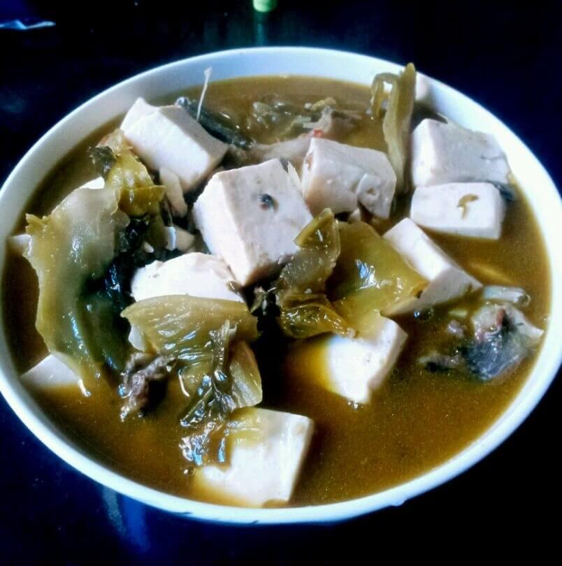 美味的豆腐酸菜鱼