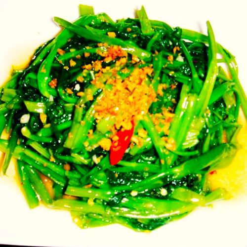 美味蝦醬炒空心菜