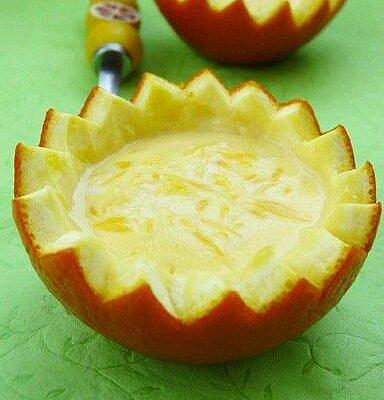 香橙牛奶布丁
