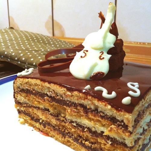 营养杏仁巧克力蛋糕
