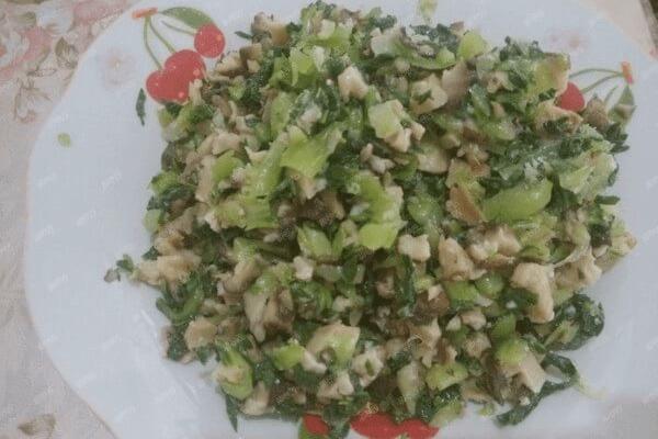 早餐配青菜香菇蝦皮煎包,一天美好的開始第九步