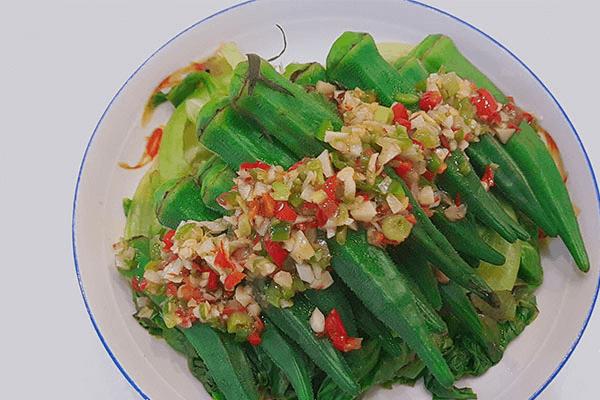 用鮮椒涼拌秋葵,保證一粒蒜和辣椒都不得浪費第八步