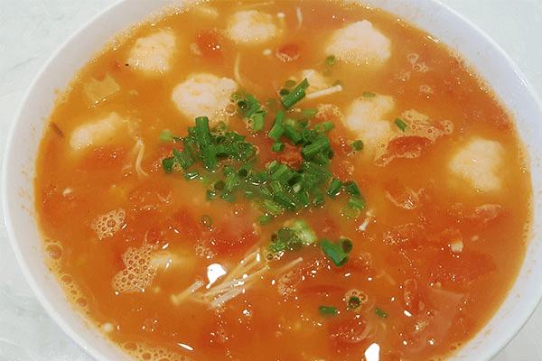 美极鲜极金针菇番茄虾滑汤,不需要配饭,大口吃虾滑就对了!第九步