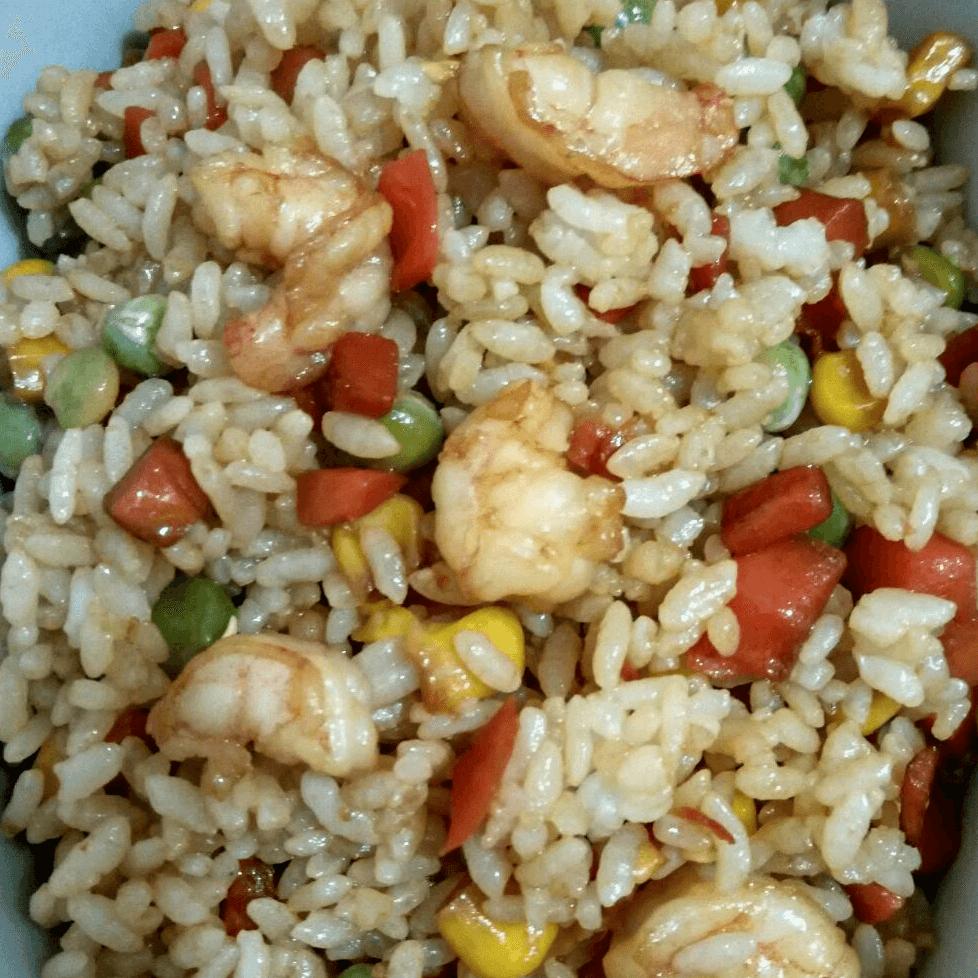 蝦仁炒飯超好吃的做法
