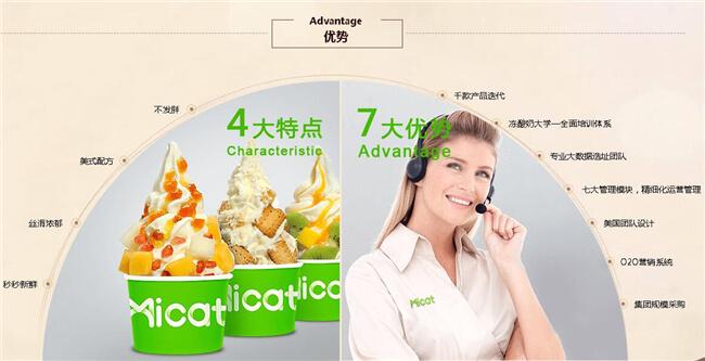 薄荷猫冻酸奶加盟优势