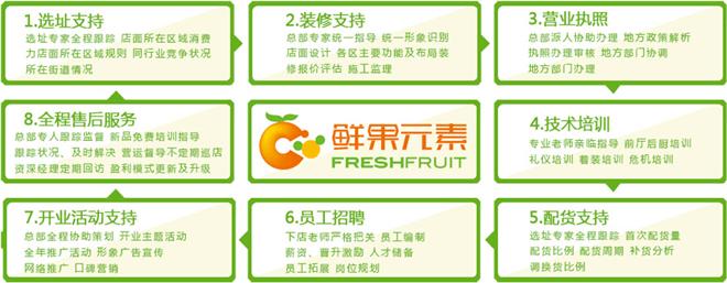 鲜果元素饮品加盟支持