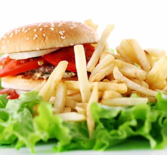 汉堡薯条汉堡图1
