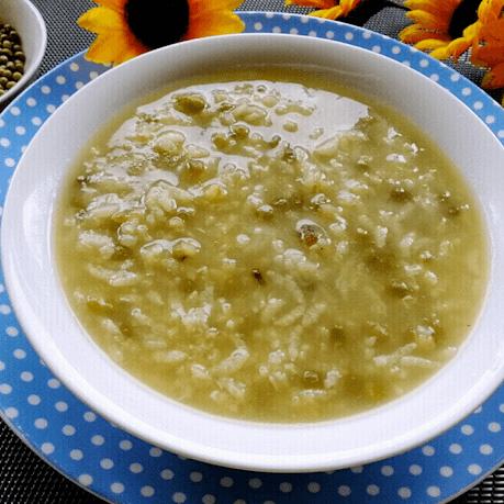 好吃的大米绿豆粥