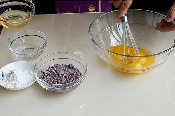 紫米蛋糕做法简单又好吃第三步