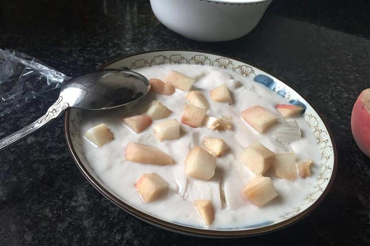 自制牛奶冻,水果随心加