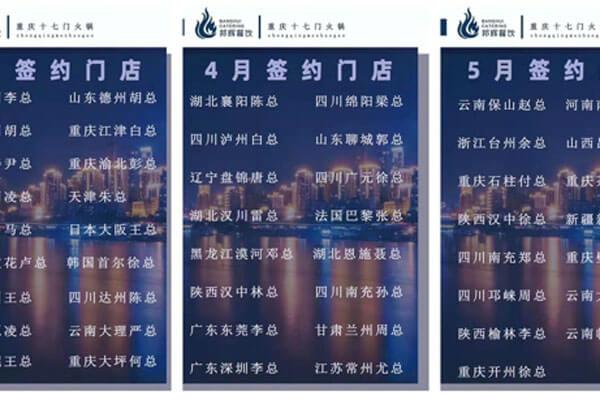 重庆特色火锅店加盟:实力品牌,2019部分加盟数据详解