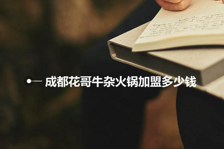 成都花哥牛杂火锅加盟多少钱