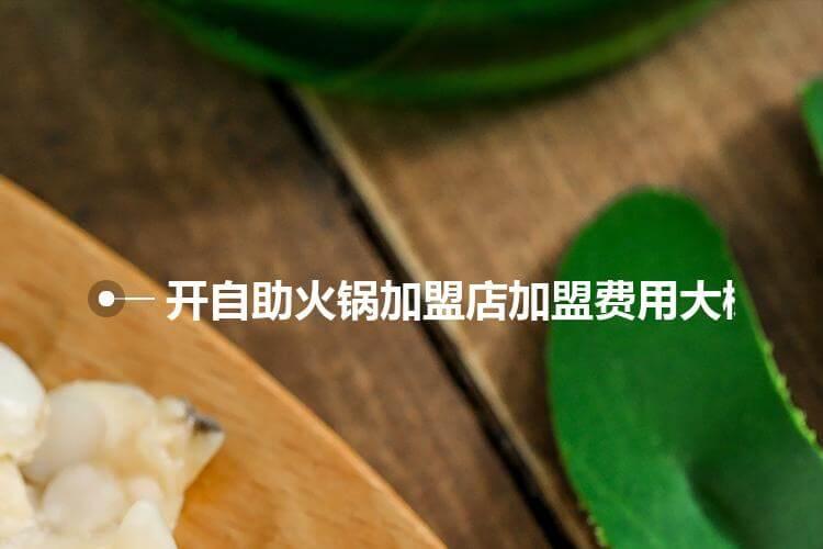 开自助火锅加盟店加盟费用大概多少呢