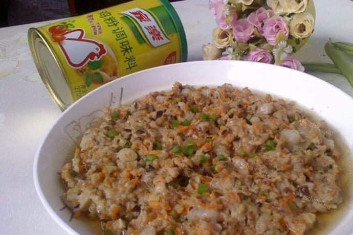 家常版香菇蒸肉饼的做法,不用特意准备材料,吃什么加什么