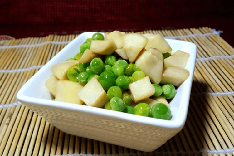 美味家常菜:素炒豌豆,没想到加了杏鲍菇会这么好吃!