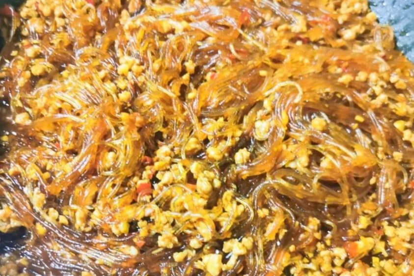 简易版蚂蚁上树,粉丝加肉就能做出名川菜