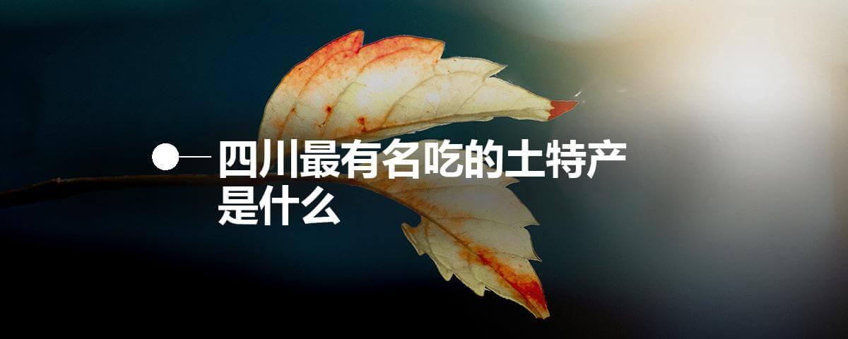 四川最有名吃的土特产是什么