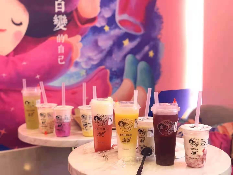 撞色奶茶全国有多少店呢?做这个奶茶开在什么地方好呢?