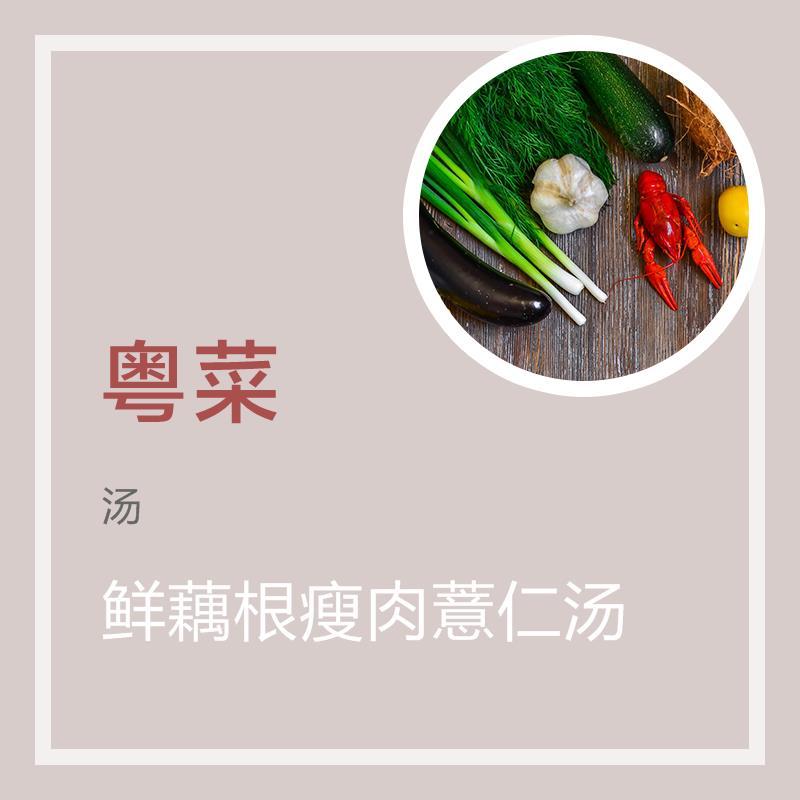 鲜藕根瘦肉薏仁汤