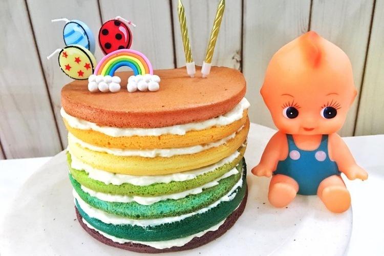 好吃耐看的高颜值彩虹蛋糕