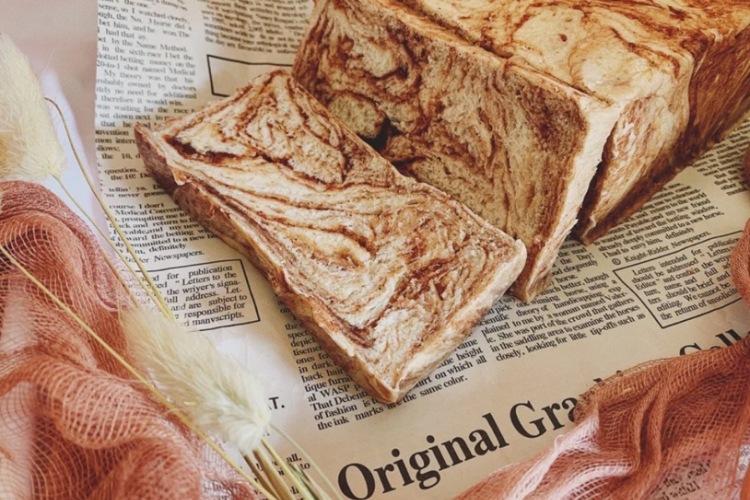 红豆大理石金砖吐司