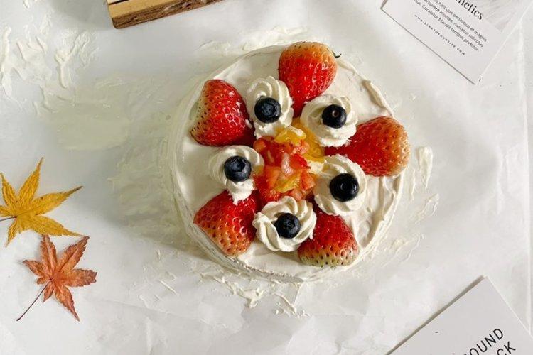 颜值高味道好的草莓蛋糕,做法很简单