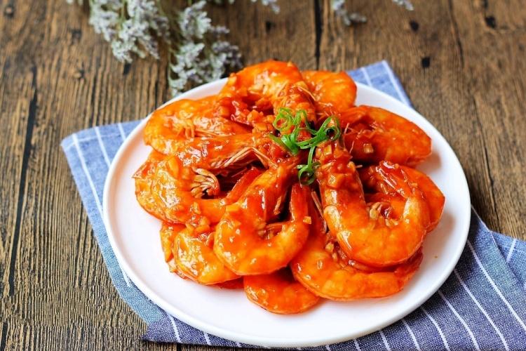 酸酸甜甜的茄汁大虾,还没端上桌就被味道吸引