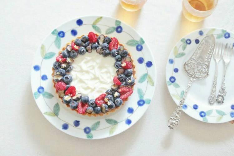 高颜值有内涵的蓝莓乳酪塔,下午茶的不二之选