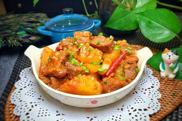 番茄土豆炖牛肉,配上一碗米饭绝了