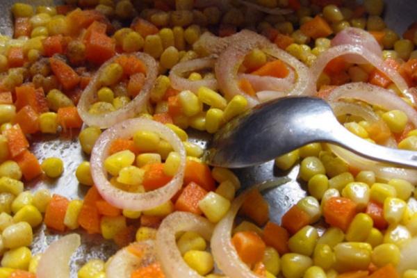 玉米炒葡萄,你值得吃的美味第五步