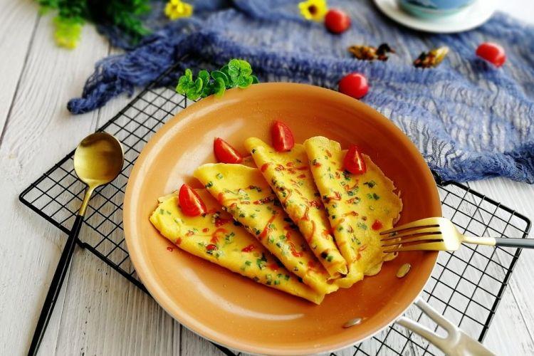 快手早餐饼鸡蛋葱花饼,每天一个鸡蛋身体棒棒哒!