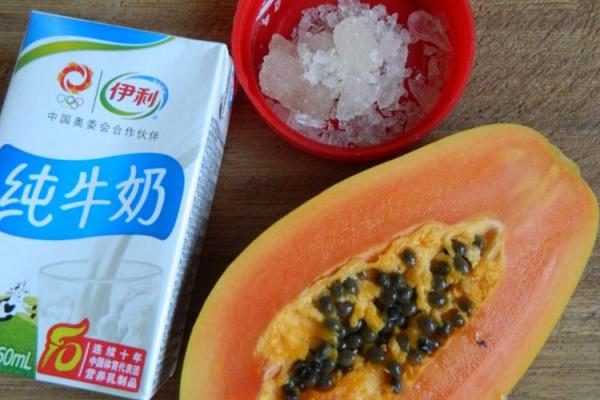 超级经典的广东糖水之木瓜炖奶第一步