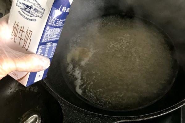 奶汁鱼片,汤底奶白色泽诱人第五步