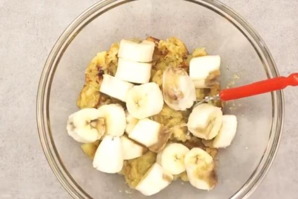 坚果香蕉红薯面包,一口下去软噗噗第三步
