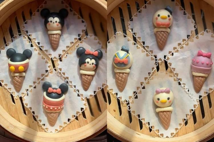 迪士尼卡通冰淇淋甜筒卡通馒头好看又美味