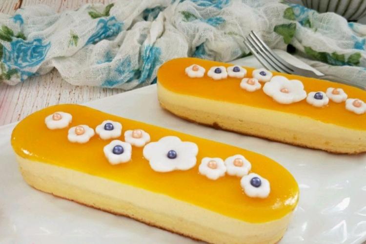 芒果慕斯创意蛋糕