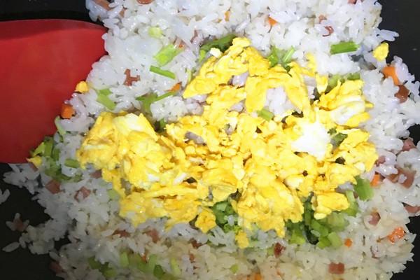 香肠鸡蛋炒饭,高颜值的外观让你满满食欲第十一步