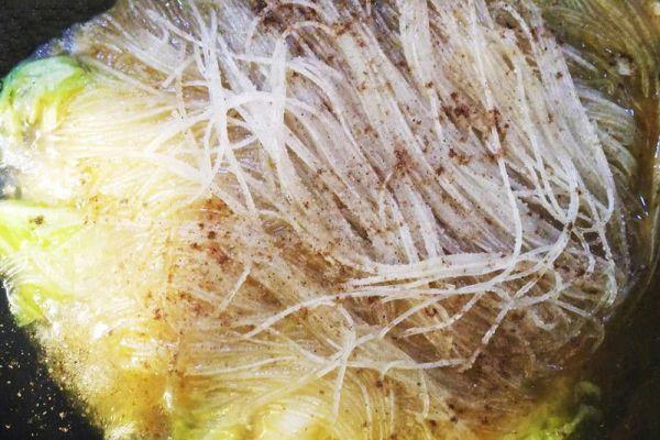 东北家常菜之猪肉白菜炖粉条,带你感受东北浓厚的乡土气息第十步