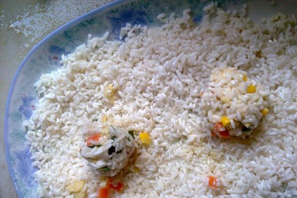 香糯晶莹的玉米珍珠肉圆第七步