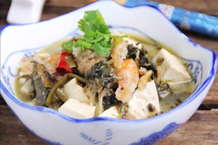 一道咸菜煮豆腐,传递浓厚的乡情
