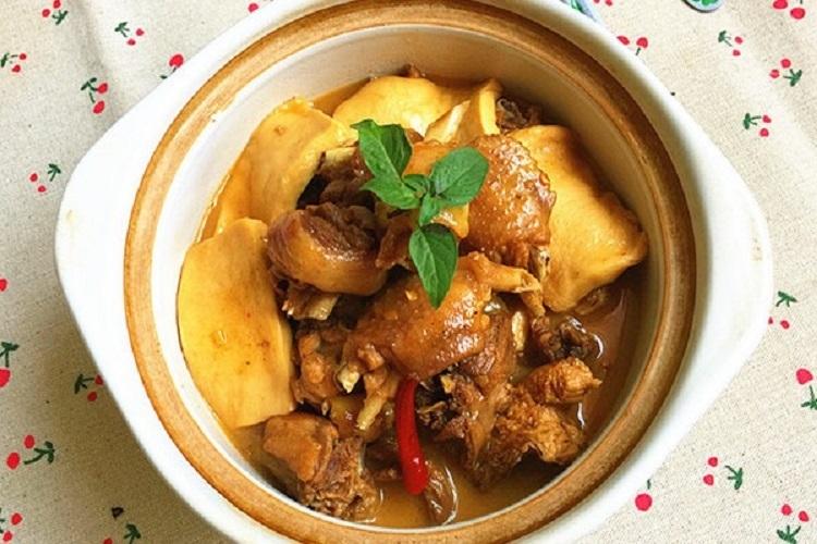 千叶豆腐炒鸡肉,荤素搭配营养又美味