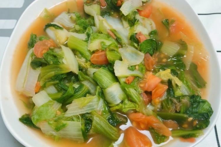 番茄小白菜,一道超受吃货喜爱的家常菜