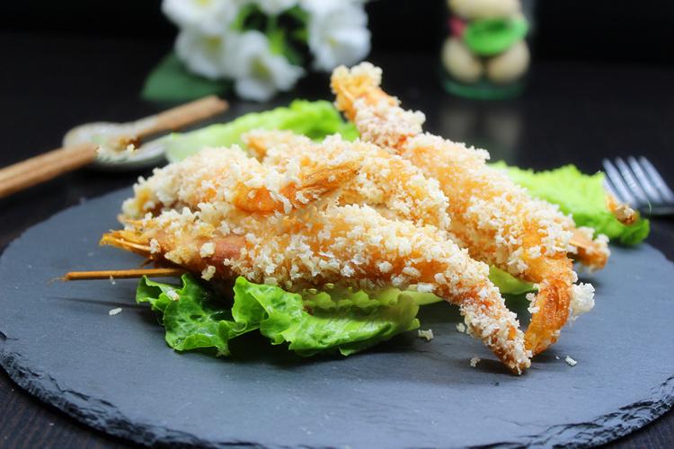 在家自制日式天妇罗油炸大虾