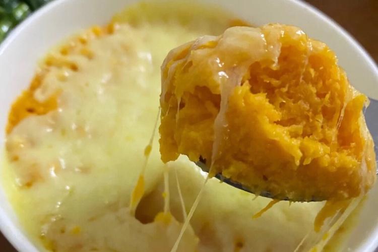 芝士奶油焗红薯,无烤箱也能完成!