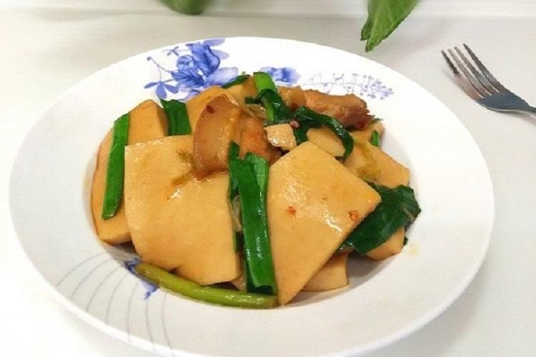 千叶豆腐炒五花肉,鲜香嫩滑的下饭菜