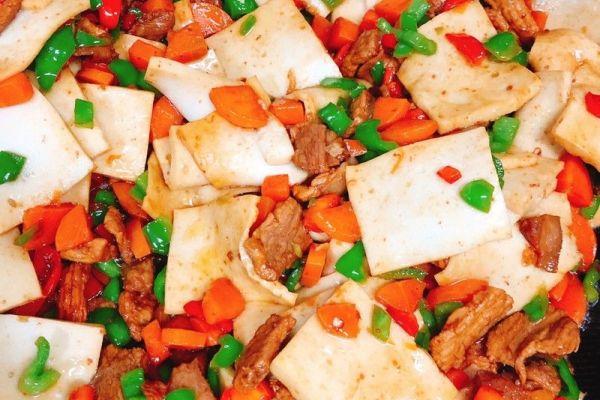 小炒千叶豆腐,简单又美味第八步