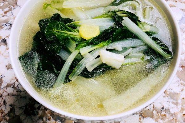 小白菜汤,营养又美味第十步